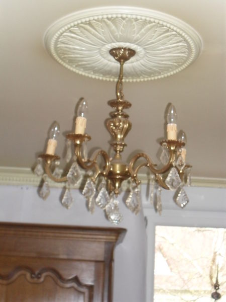 lustre 5 branches bronze massif 50 Soliers (14)