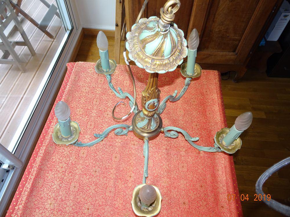 Lustre 5 branches bronze 25 Paris 15 (75)