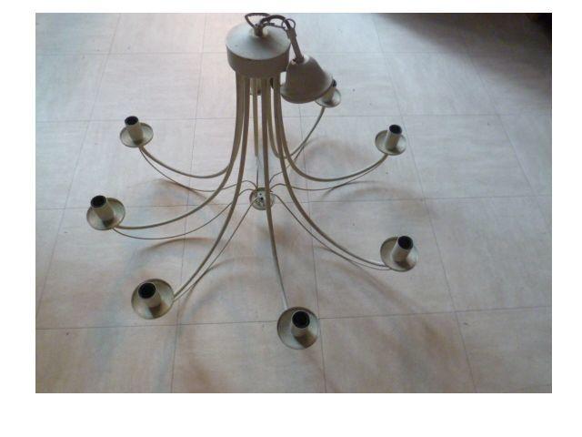 lustre 8 branches, lampes de chevet, lampe pétrole 8 Martigues (13)