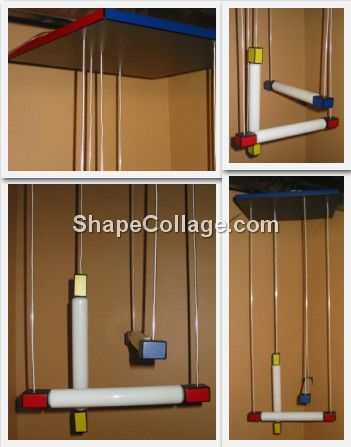 LUSTRE LAMPE GERRIT RIETVELD Hanging light ROUGE BLEU MONDR 385 Marseille 13 (13)