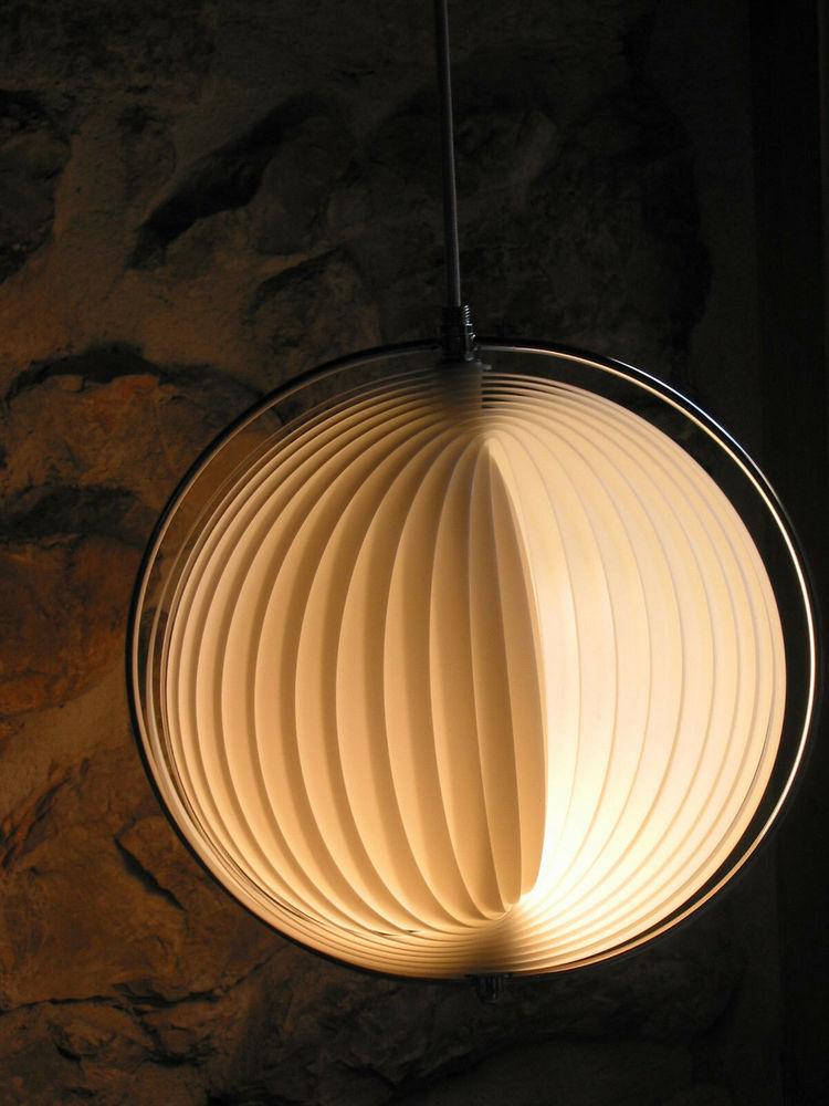 LUSTRE Lampe moon de VERNER PANTHON design 60/80 vintage pop 200 Marseille 13 (13)