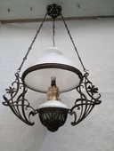 Lustre Art Nouveau, suspension à pétrole années 1900 170 Annonay (07)