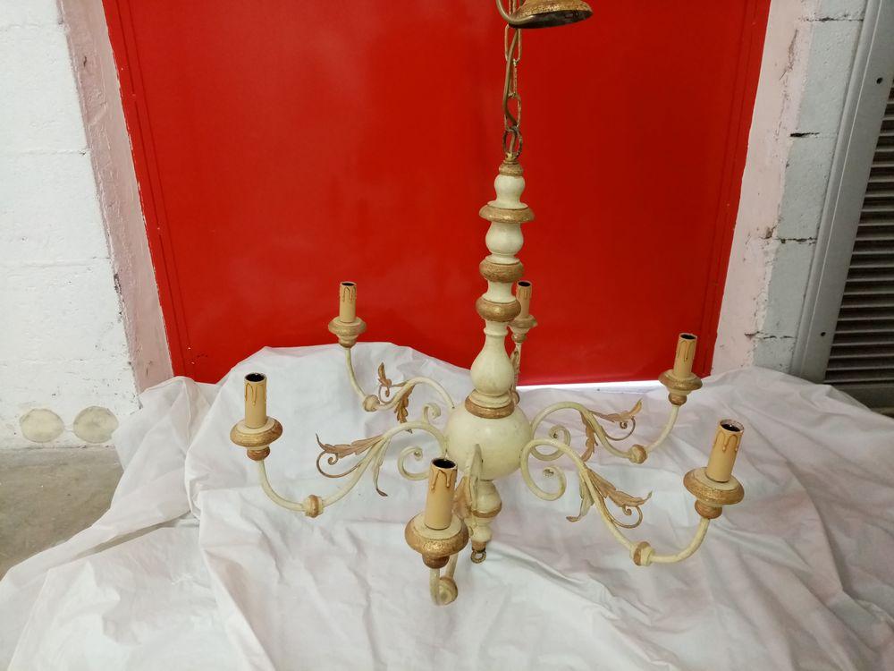 lustre style vénitien en bois  120 Cergy (95)