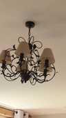 lustre suspension 5 branches fer forgé donne abats jour 15 Carbonne (31)