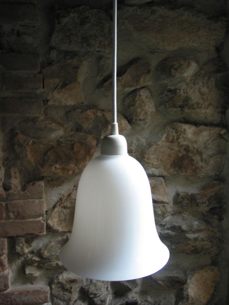 Lustre suspension art déco vintage 1950 tulipe cloche avec c 45 Marseille 13 (13)