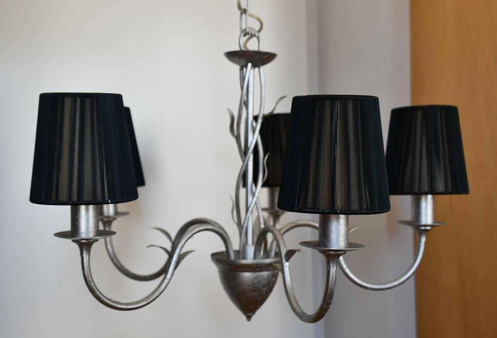 Lustre suspension 5 lampes style baroque 45 Moissy-Cramayel (77)