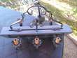 Lustre suspension  rustique en bois massif et fer forgé Échenoz-la-Méline (70)
