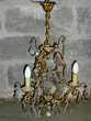 Lustre vénitien suspendu en bronze.