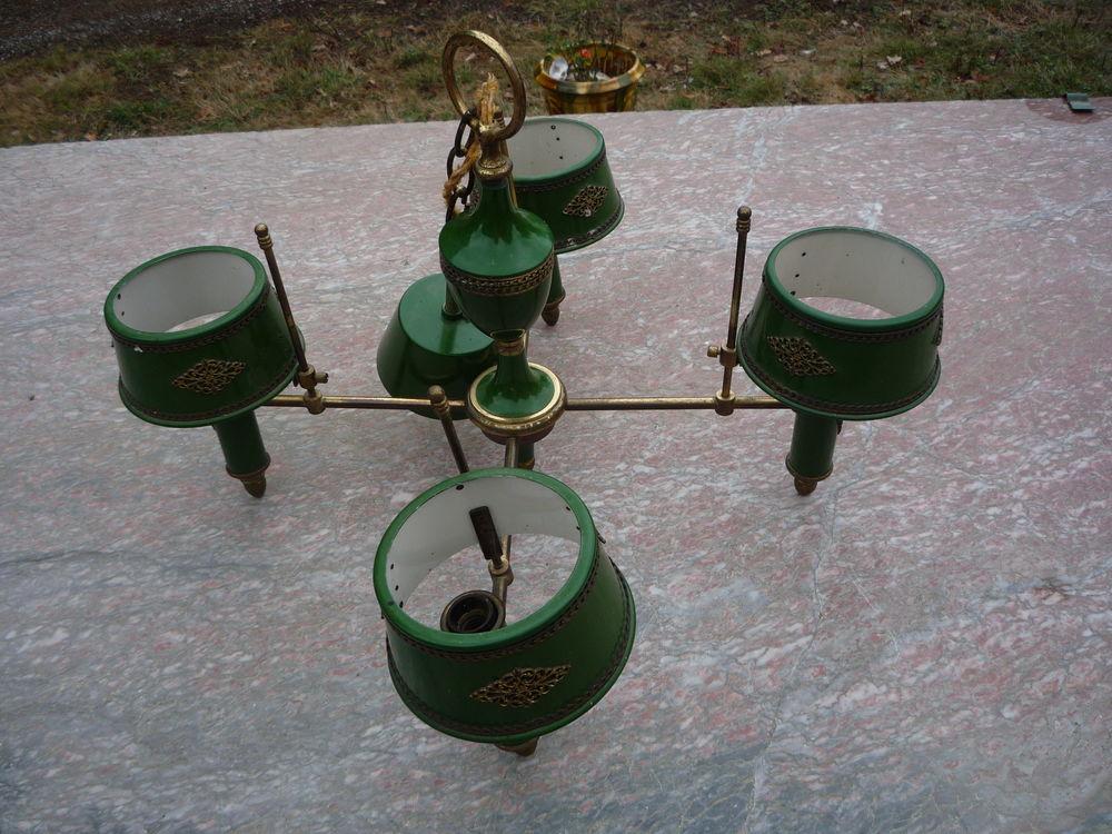 Lustre vert/lampe bouillotte esprit Empire 45 Castres (81)