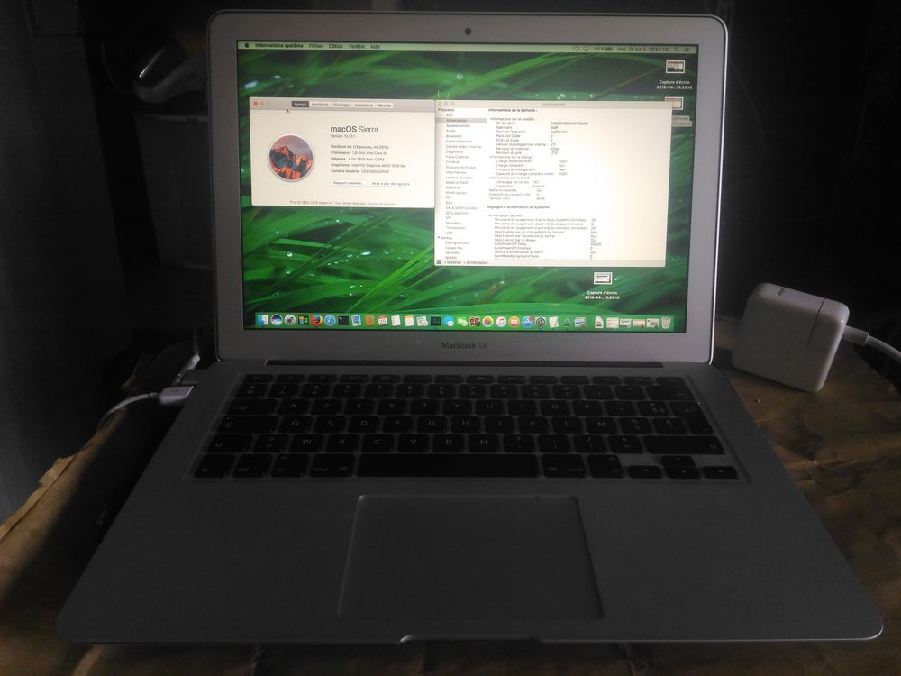 MACBOOK AIR 13  MI 2012 INTEL I5 1.8GHZ SSD 256 GO 525 Lyon 8 (69)