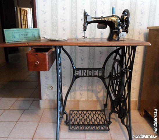 machine a coudre singer 1907 model 2728k tbe meubles - Table Machine A Coudre