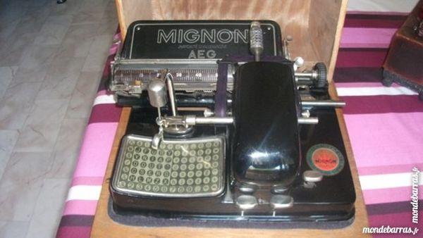 machine à écrire de collection  - marque MIGNON 4 de 1921 380 Albertville (73)