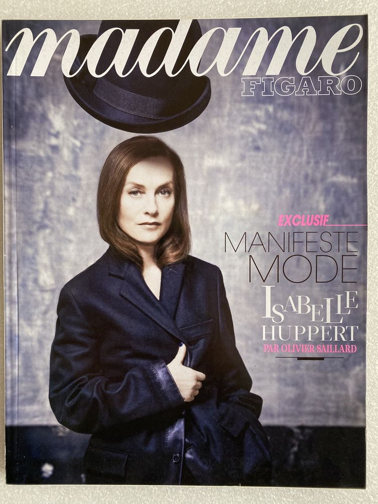 Madame Figaro N°21815 - Exclusif : Isabelle Huppert 8 Joué-lès-Tours (37)