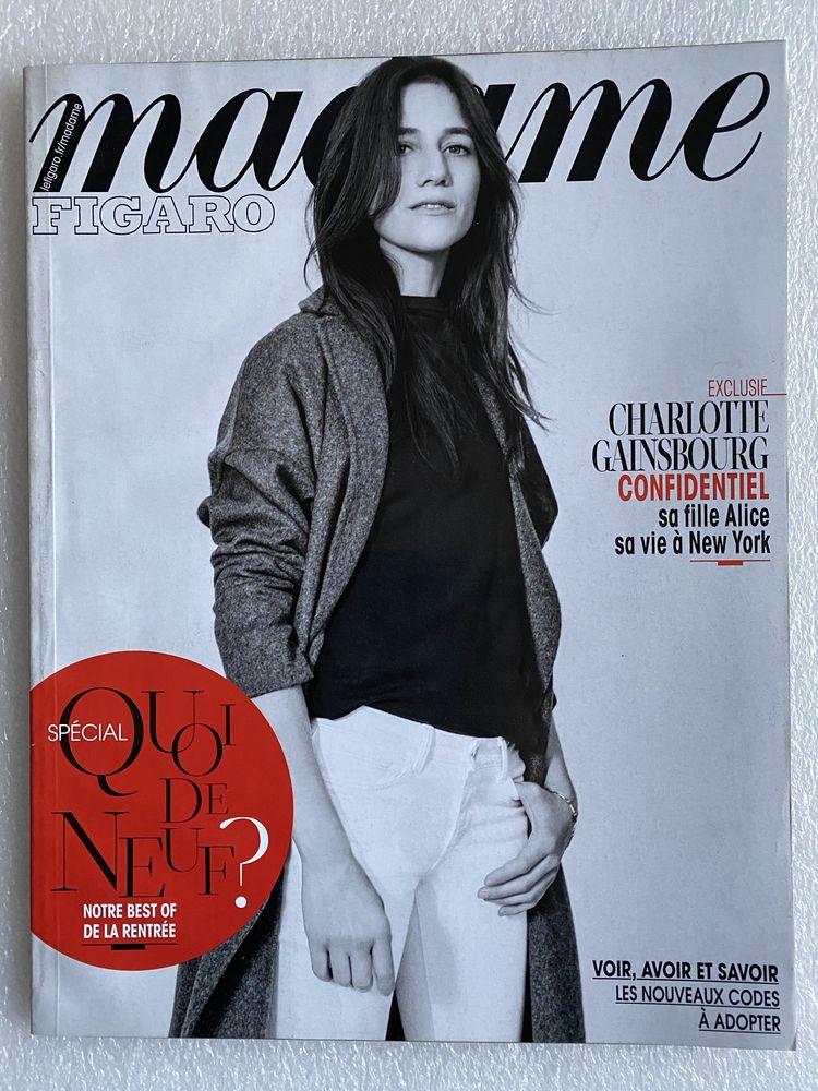 MADAME FIGARO Charlotte Gainsbourg  n°22093 21/08/2015  5 Joué-lès-Tours (37)