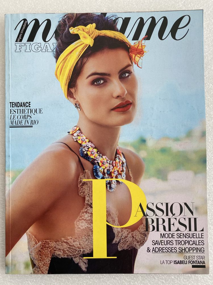 Madame Figaro  Isabeli Fontana N°22343 10/06/2016  6 Joué-lès-Tours (37)