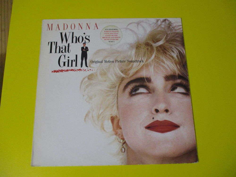 MADONNA 33 TOURS BOF WHOS THAT GIRL 20 Lognes (77)