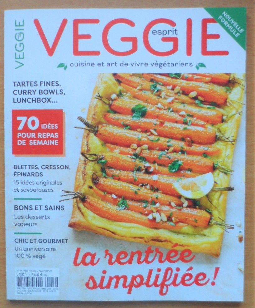 Magazine Esprit veggie automne 2020 Livres et BD