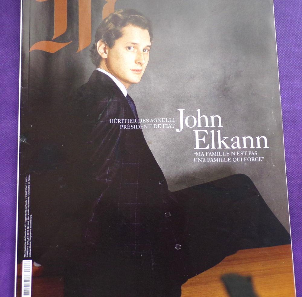 M le magazine du monde John Elkann n° 407 juillet 2019 1 eur 1 Laval (53)