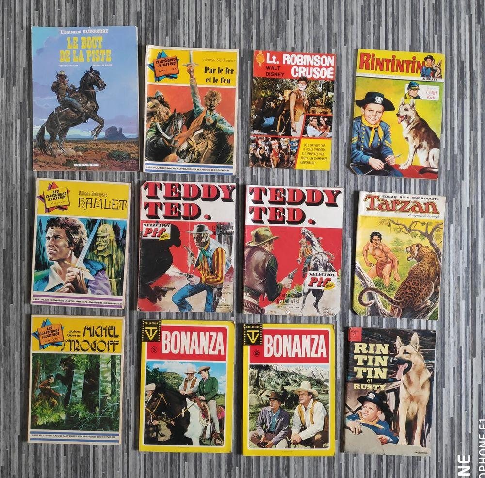 Lot de 12 magazines BD anciens Livres et BD