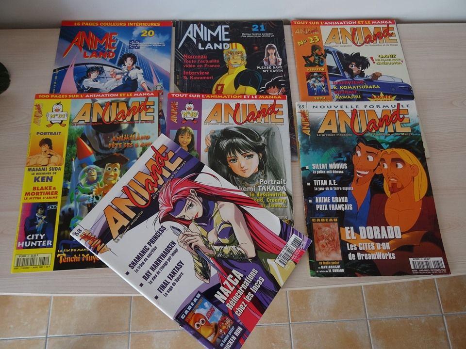 Magazines Animeland à l'unité,Manga,Otaku,Animés,collection 1 Saint-Ambroix (30)
