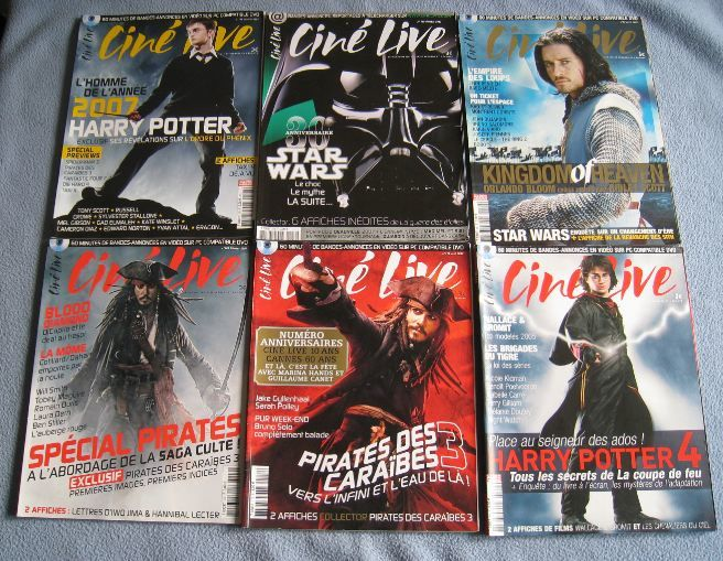 Magazines CINE LIVE (le lot)  5 Metz (57)