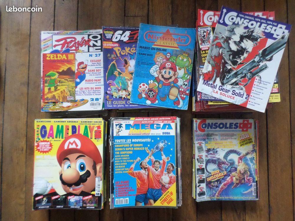 Lot 200 magazines gameplay 128, consoles+ megaforce Livres et BD