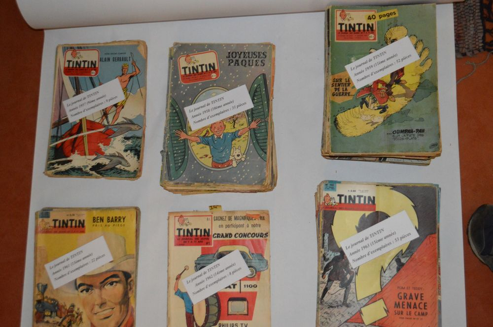 Lot de magazines ?' Le journal de TINTIN ?' de 1957 à 1971