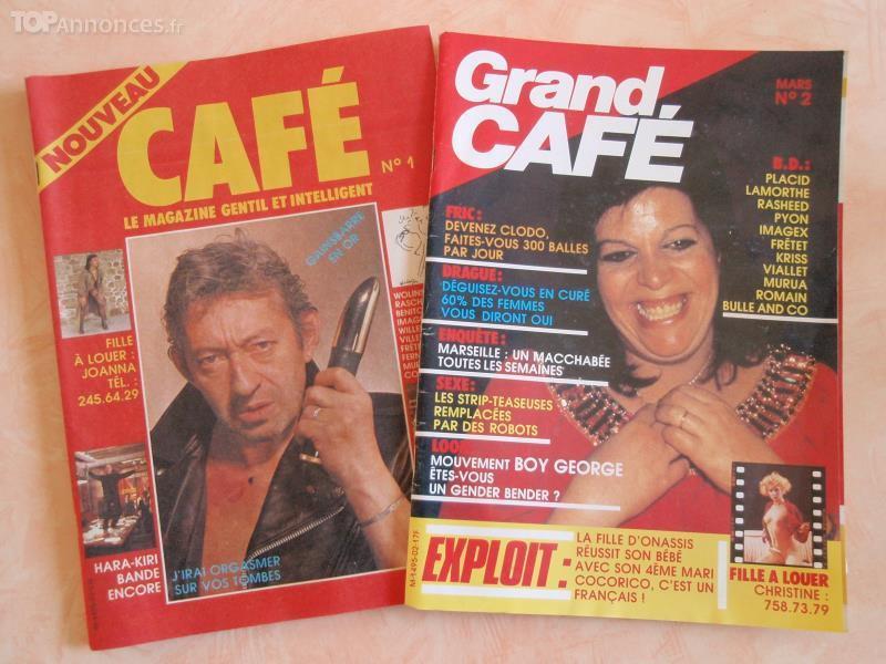 "2 Magazines ""grand Café"" Livres et BD"