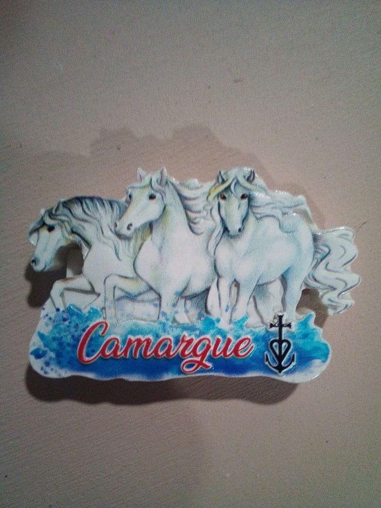 Magnets frigo Camargue. 2 €uros au choix. 2 Saintes-Maries-de-la-Mer (13)