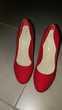 Magnfique Escarpins en daim rouge Jamais porté taille 38 Chaussures