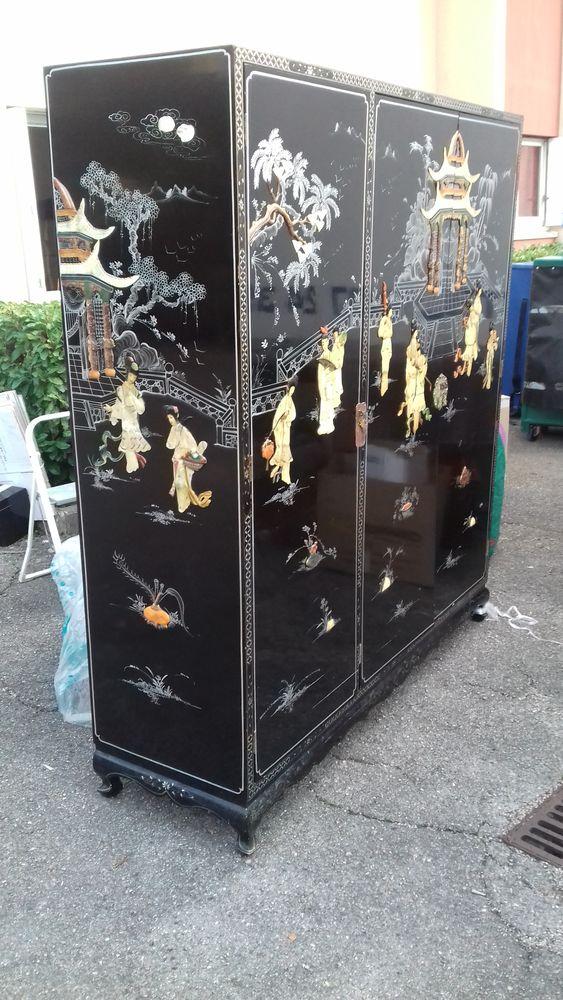 Magnifique armoire chinoise + paravent laqué et nacré Meubles