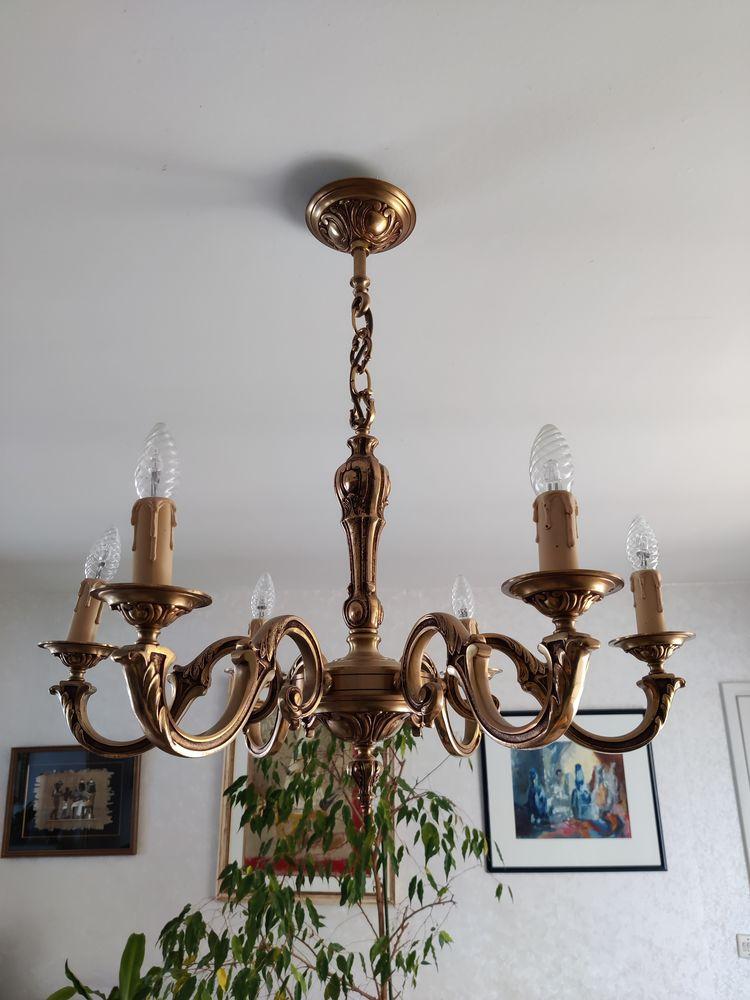 Magnifique lustre bronze massif 6 branches - etat Neuf ! 450 Brétigny-sur-Orge (91)