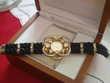 Magnifique montre stylée pierres Swarovski N° 416 Bijoux et montres