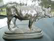 Magnifique statue en bronze d'un Taureau