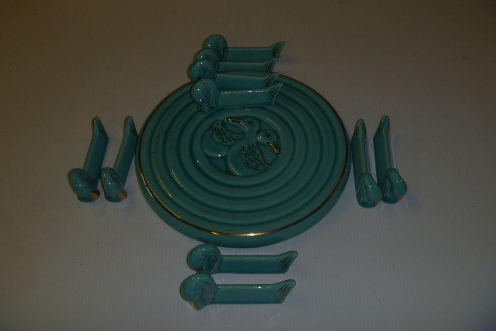 Magnifique set de table en céramique de couleur verte 40 Vénissieux (69)