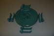 Magnifique set de table en céramique de couleur verte