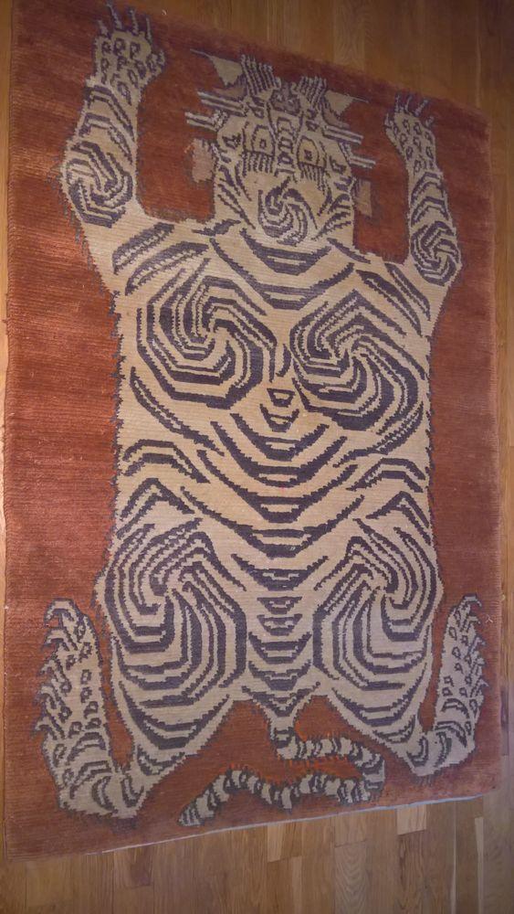 Magnifique tapis népalais ancien pure laine - Excellent état 80 Paris 10 (75)