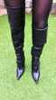 Magnifiques cuissardes Samarina  en cuir noir T 38 80 La Motte (83)
