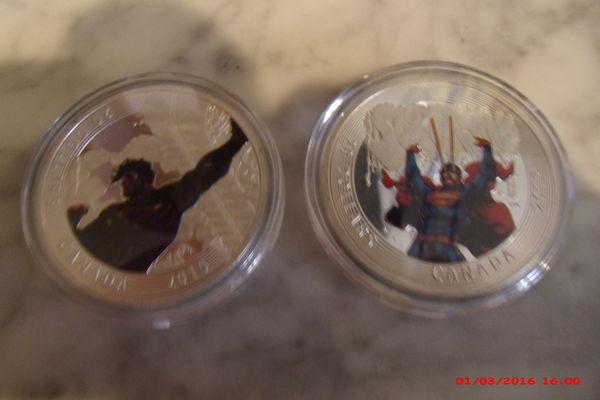 2 magnifiques pièces superman nouvelle collection 20 Le Luc (83)