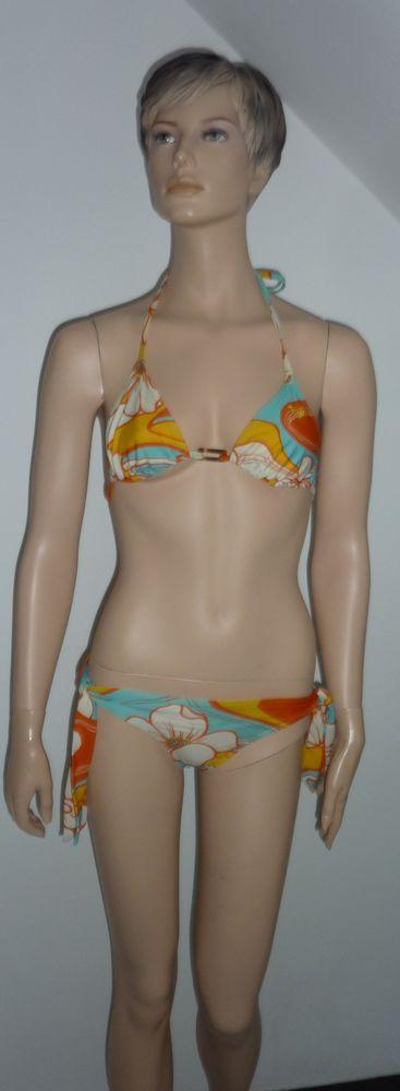 maillot de bain plage été 2 pieces ROXY T 3 38 40 Vêtements