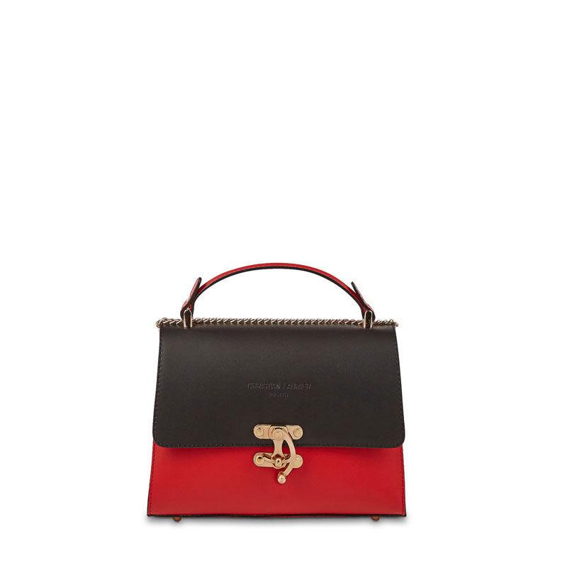 sac a main modele ora de christian laurier rouge et noir   110 Rethel (08)