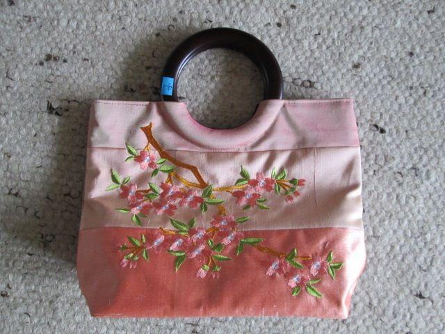 Sac à main rose asiatique soie neuf 10 Herblay (95)