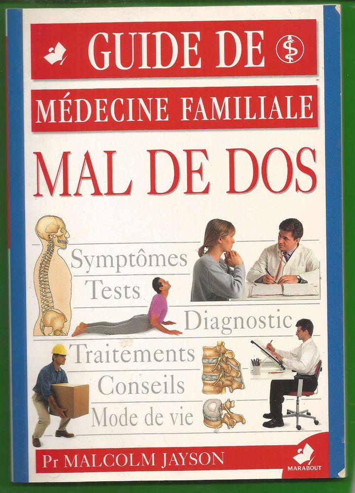 Pr Malcolm JAYSON - Mal de dos - guide de médecine familiale Livres et BD