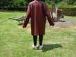 manteau en agneau bordeaux Vêtements