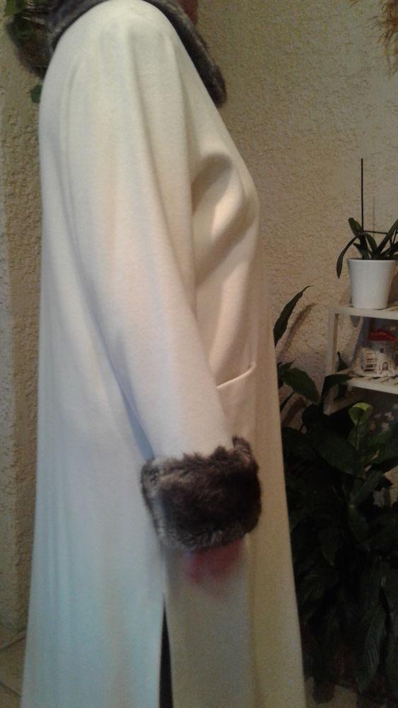 Manteau blanc 100 % cachemire 90 Istres (13)