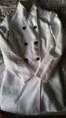Manteau blanc taille 38 10 Montreuil-sur-Loir (49)
