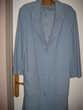 Manteau bleu clair pur laine