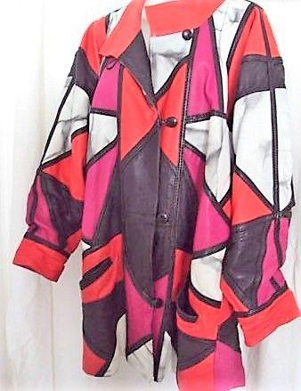 Manteau chic cuir rouge noir blanc rose T 44 49 Clermont-Ferrand (63)