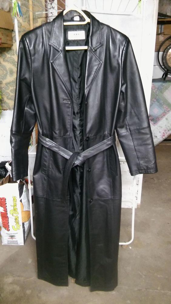 manteau en cuir noir long 50 Cormeilles-en-Parisis (95)