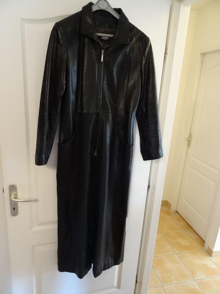 Manteau cuir noir (DIG),très bel état,Cuiropolis 300 Saint-Ambroix (30)